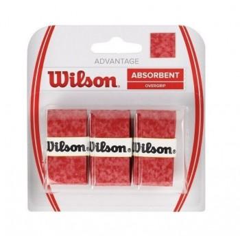 Blíster 3 Overgrips Wilson Advantage Rojo