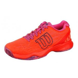 Zapatillas Wilson Kaos Clay Court rojo fluor