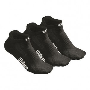 Pack 3 Pares de Calcetines Wilson No Show Mujer negro
