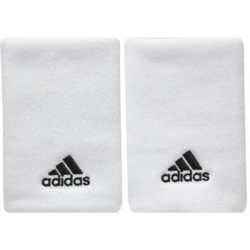 Pack 2 Muñequeras Adidas Padel L blanco negro