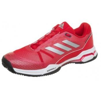 Zapatillas Adidas Barricade Club Clay roja blanca