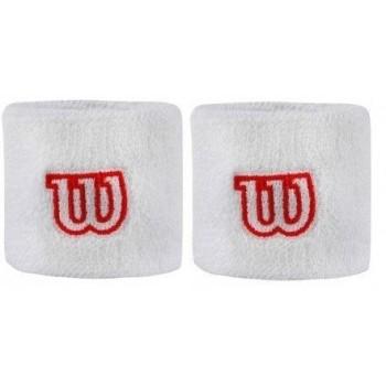 Pack 2 Muñequeras Wilson blanco rojo
